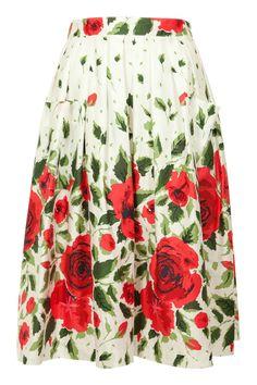 RetroSpec'd Pleated 50s Skirt - Womens Knee Length Skirts - Birdsnest Online Fashion