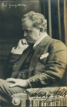 Wille, Georg - Signed photo postcard