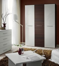 Epic Wardrobe h White gloss and wenge wardrobe