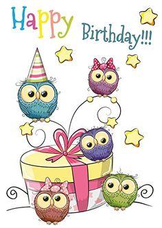 15 Geburtstagskarten für Kinder, 5 Motive mit jeweils 3 Postkarten, Kinderpostkarten-Set, Kindergeburtstag: ClipDealer Edition