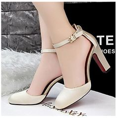 Women's Shoes Simple Style Pump Chunky Heel Heels / Square Toe Heels Office  & Career / Party & Evening