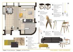 Interior Design For Bedrooms Design Portfolio Layout, Interior Design Portfolios, Interior Design Sketches, Layout Design, Portfolio Web, Mood Board Interior, Interior Design Boards, Home Interior, Moodboard Interior Design