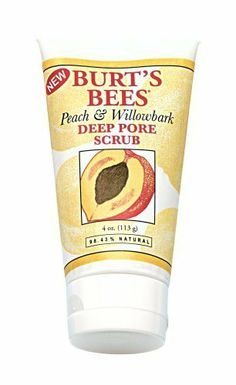 Burt's Bees Peach & Willowbark Deep Pore Scrub, 4-Ounce Tubes (Pack of 2) by Burt's Bees. $15.84. Finely ground peach stone naturally and gently exfoliates your skin, while willowbark and golden seal help clear pores. This natural facial cleanser also contains ginger and sea algae extracts to revitalize your skin and replenish essential minerals, leaving your face deeply clean and naturally nourished.