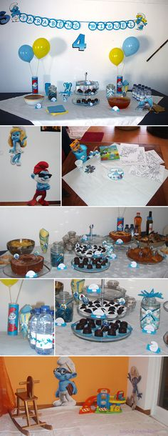 smurf theme party