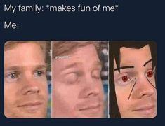A community for posting anime memes! Funny Naruto Memes, Stupid Funny Memes, Funny Relatable Memes, Uzumaki Boruto, Itachi Uchiha, Sasuke Sakura, Anime Naruto, Anime Manga, Otaku