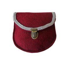 Schürzentasche Filz MAIKE in marsala-rot in fürs Dirndl - Filztasche kaufen - Filztaschen von margritli country style