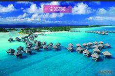 """#destino ɤ Bora Bora, Polinésia Francesa ɤ  Esta é uma das ilhas mágicas que compõem Polinésia Francesa no Pacífico sul. Com apenas 29 km de comprimento, Bora Bora é uma das praias mais procuradas pelos turistas de todo o mundo. Com o apelido de """"Ilha Romântica"""", os casais podem apreciar suas praias isoladas, hotéis acolhedores e uma atmosfera tranquila."""