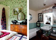 Victorian Cottage Bedroom And Bathroom With Stately Style Period