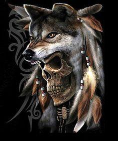 wolf skull tattoo - Google Search