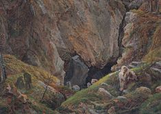 Canyon in the resin - Caspar David Friedrich