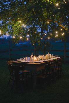 Move over fairy lights. Decorate your dinner table with globe string lights for an old-school take on a glowing festive look.