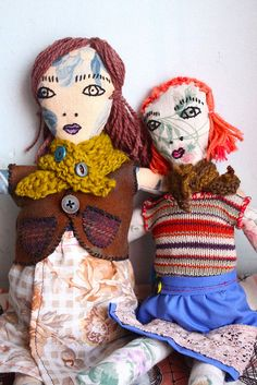 roses  pearls  mine is the wonderful girl on the right, red hair and all. Got her from her maker on Etsy Rose Beerhorst