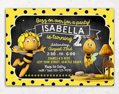 Maya the Bee Invitation for Birthday Party / DIY by Inkchanting