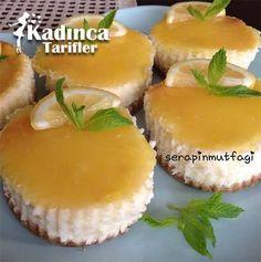 LİMONLU MİNİ CHEESECAKE TARİFİ http://kadincatarifler.com/limonlu-mini-cheesecake-tarifi