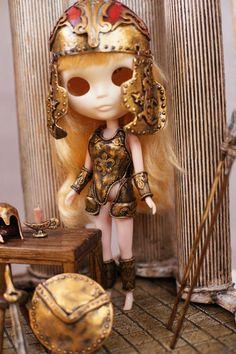 Blythe Gold Greek Armor handmade Armor Corset by Theworldofdolls
