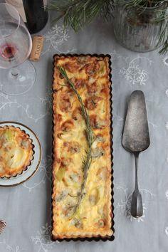Póréhagymás-gorgonzolás pite Quiche, Panna Cotta, Cheese, Breakfast, Food, Morning Coffee, Dulce De Leche, Essen, Quiches