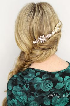 Inverted Fishtail Side Braid from Missy Sue High Pony Hairstyle, Side Braid Hairstyles, Braided Hairstyles Tutorials, Hair Tutorials, Beautiful Long Hair, Gorgeous Hair, Race Day Hair, Hair Piece, Hair Today
