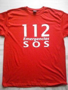Camisetas serigrafiadas para el 112 de Emergencias de Jaén.