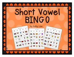 This is a great way to practice short vowels. This game comes with 30 BINGO cards and calling cards. When I play with my students we use cereal for game markers. When we finish playing, we eat our game markers and everyone wins.Also included are printables to reinforce short vowels.