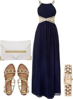"""Maxi dress"" by lenazalocar on Polyvore"