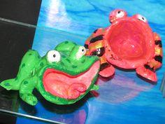 2nd grade clay frogs  Art teacher: Susan Joe