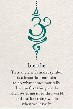 The Breathe Sanskrit symbol is calming yet motivating, just like active breathing! Take short breaks to breathe deeply throughout your day - especially if you're stressed - and you'll probably notice that you feel less exhausted by the end of it Future Tattoos, New Tattoos, Body Art Tattoos, Tatoos, Yoga Tattoos, Arabic Tattoos, Mini Tattoos, Unique Tattoos, Dragon Tattoos