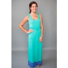 Malibu Maxi Dress-Turquoise - $42.00