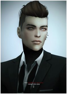 Black-le: NewSea`s MACHO hairstyle converted  - Sims 4 Hairs - http://goo.gl/hz2wQ7