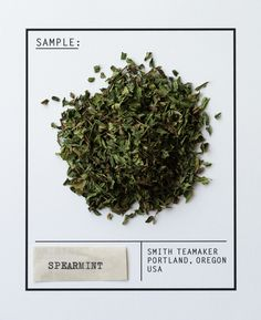 Varietal No. 73: Spearmint // Highly #aromatic, #spearmint leaves taste lighter and more piercing than #peppermint, and have a #sweet #minty character. Naturally, ours come from eastern and central #Oregon, #home of the best #mint leaves on #earth.