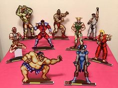 Our new Street Fighter II set is officially up for sale in our Etsy shop. Can't wait to see who your favorite challenger is!!
