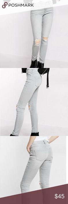 Express Super Soft Distressed Jeans- Final Price! Express Super Soft Distressed Jeans- Size 12 Express Jeans