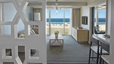 The Monarch Suite offers sweeping views of the Pacific Ocean and Santa Monica Pier