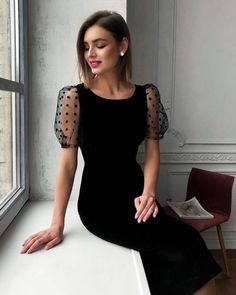Want to know more about fashion dresses Simple Dresses, Elegant Dresses, Pretty Dresses, Beautiful Dresses, Casual Dresses, Elegant Outfit, Black Prom Dresses, Lace Evening Dresses, Long Dresses