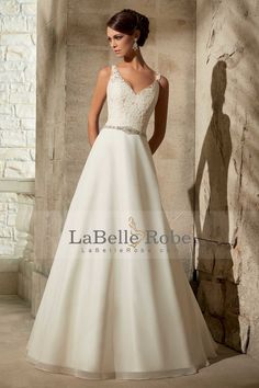 Shop Morilee's Appliques on Delicate Chiffon with Crystal Beading Morilee Bridal Wedding Dress. Wedding Dresses and Bridal Gowns by Morilee. Beautiful embroidery accents the bodice on this A-line Bridal Dress leading way to a simple, dreamy chiffon skirt. V Neck Wedding Dress, Bridal Wedding Dresses, Wedding Dress Styles, Bridesmaid Dresses, Prom Dresses, 2017 Wedding, Backless Wedding, Wedding Bride, Lace Wedding