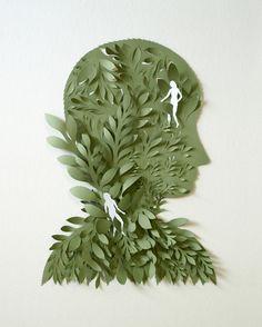 Бумажная скульптура Эльзы Мора