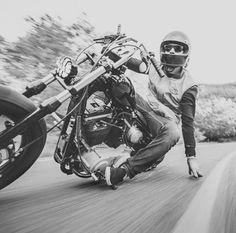 More Bobber and Chopper pics & videos at Vintage Motorcycles, Custom Motorcycles, Custom Bikes, Chopper Cruiser, Bobber Chopper, Motos Harley, Harley Davidson Motorcycles, Motocross, Moto Logo