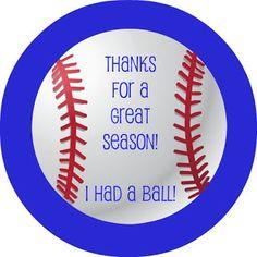 Lavender Clouds: Free Baseball Thank You Printable