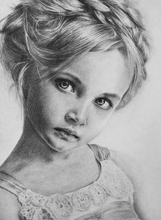 Baby Drawing Tutorial Line Art 43 Ideas Pencil Portrait Drawing, Portrait Sketches, Portrait Illustration, Art Drawings Sketches, Cool Drawings, Eye Drawings, Sketch Drawing, Realistic Pencil Drawings, Pencil Drawing Tutorials