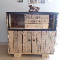 Mange debout en bois de palette meubles et rangements - Meubles en palettes de bois ...