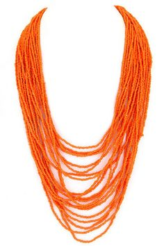Bahamas Bound Necklace in Orange | Impressions Online Women's Clothing Boutique #shopimpressions