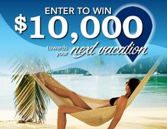 How would you like to win $10,000 toward your next dream vacation?   Click the pic to enter!!