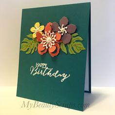BeautyScraps: Taste of the Tropics with Stampin' Up! Botanical Builder Framelits - Blogging Friends Blog Hop August 2016