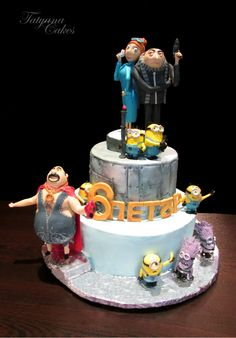 Despicable me 2 -   Cake for the 6th birthday of my son https://www.facebook.com/TatyanaCakes