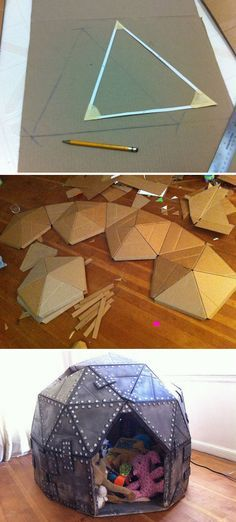 Could make a small one for the cat..Cardboard Play Dome