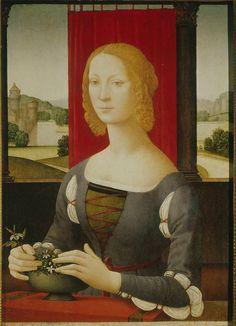 Lorenzo di Credi Portrait of a Young Lady c. 1480 panel