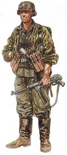 """Waffen SS - SS- Schuetze, 14. SS. Grenadieren Division """"Galizien"""" (Ucraini dalla Galizia, 1944-45)"""
