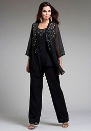Pant Suits for Plus Size Women | Large Size Womens Fashions - Womens Plus Size Clothing 2013