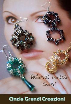"""DIY -Tutorial modulo """"Cherì"""" - per orecchini o bracciali"""