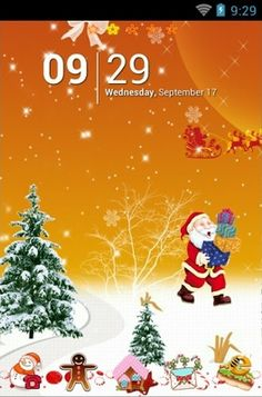 happy christmas theme for android phone httpandroidlookscomtheme t0533 happy christmas christmas android themes customization holidays