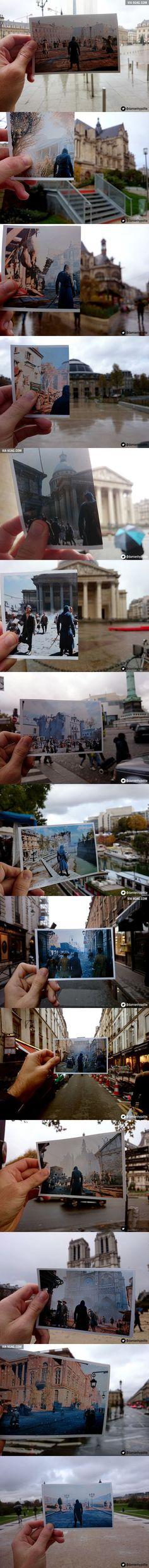14 Assassin's Creed Unity In-Game Vs Modern Paris Comparison Pics: